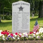 Francis Cemetery has new stone memorializing Civil War Veterans; dedication ceremony July 4th, 2002, 2 p.m.