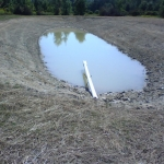 Pond #1 at the Denning property showing the hydrant suction inlet