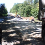 Day 6:  Site clean up in progress